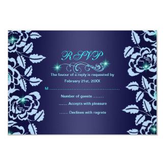 "Princesa Blue Rose Sweet16 RSVP Card Invitación 3.5"" X 5"""
