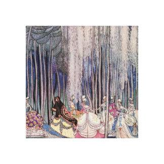 Princesa bonita Canvas Wall Art del cuento de hada Impresion De Lienzo