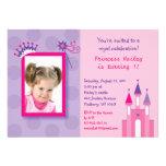 Princesa bonita Castle Photo Birthday Invitations
