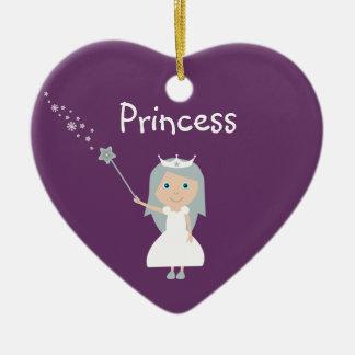 Princesa bonita Customizable Purple del dibujo ani Adornos De Navidad