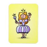 Princesa bonita imanes de vinilo