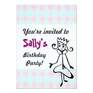 """Princesa bonita Invitation Invitación 5"""" X 7"""""""