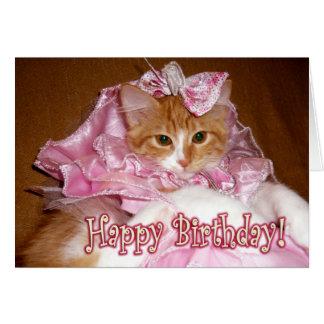 ¡Princesa bonita Kitten - feliz cumpleaños! Tarjeta De Felicitación