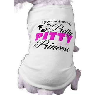 Princesa bonita Pitbull Shirt de Pitty Playera Sin Mangas Para Perro