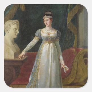 Princesa Borghese, 1808 de Marie Paulina Bonaparte Pegatina Cuadrada