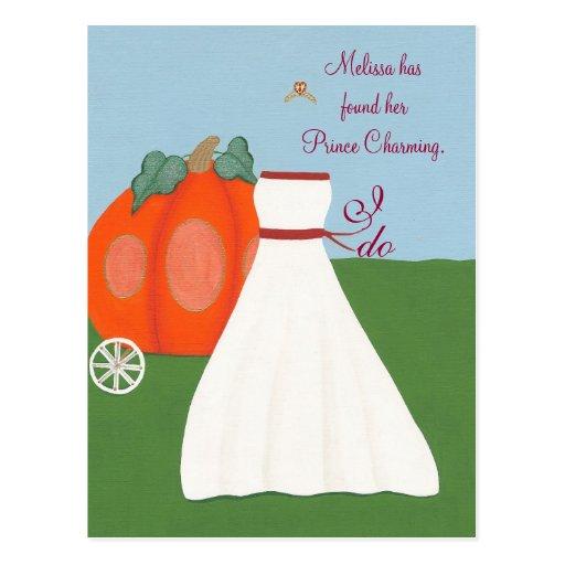 Princesa Bridal Shower Invitations Postcards Tarjetas Postales