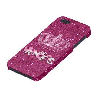 Princesa brillante Glitter de las rosas fuertes y  iPhone 5 Carcasas