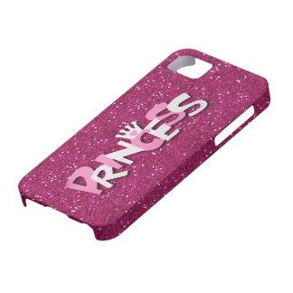 Princesa brillante linda Glitter de las rosas iPhone 5 Funda