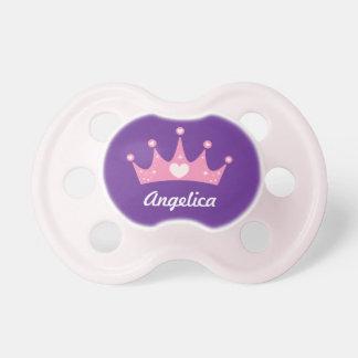Princesa brillante Personalized Pacifier de los co Chupetes De Bebe