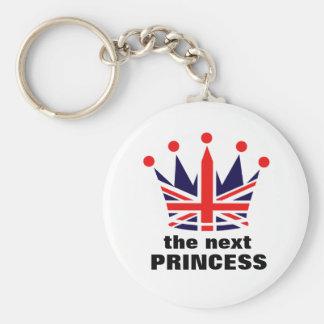 Princesa británica Crown Llavero Redondo Tipo Pin