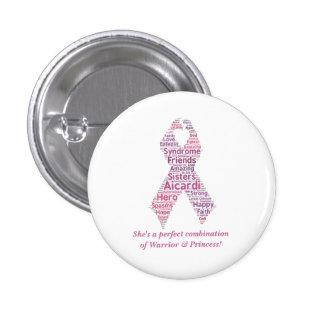 Princesa Button del guerrero Pin Redondo 2,5 Cm