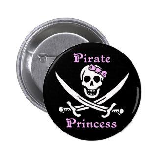 Princesa Button del pirata Pin Redondo De 2 Pulgadas