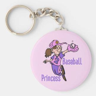 Princesa camisetas y regalos del béisbol llaveros personalizados