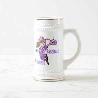 Princesa camisetas y regalos del béisbol jarra de cerveza