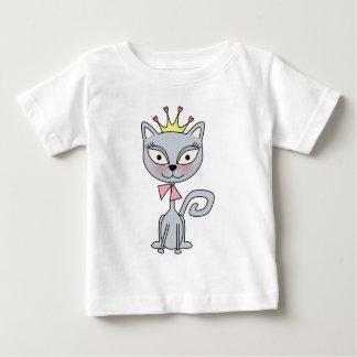 Princesa caprichosa linda Kitty Cat Playera De Bebé