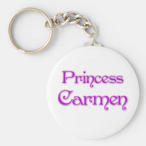 Princesa Carmen Llavero Redondo Tipo Pin