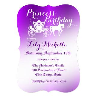 """Princesa Carriage Birthday del cuento de hadas Invitación 5"""" X 7"""""""