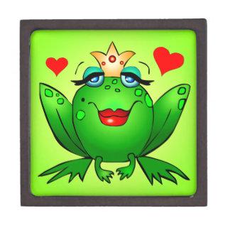 Princesa Cartoon señora Frog Green de la rana Cajas De Joyas De Calidad