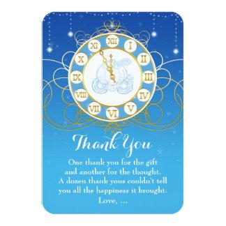 """Princesa casi de medianoche Fairytale Thank You Invitación 3.5"""" X 5"""""""