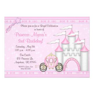 Princesa Castle Birthday Invitation Anuncio Personalizado