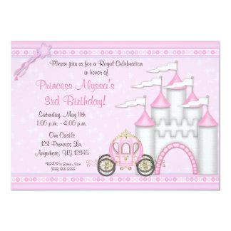 Princesa Castle Birthday Invitation Invitación 12,7 X 17,8 Cm