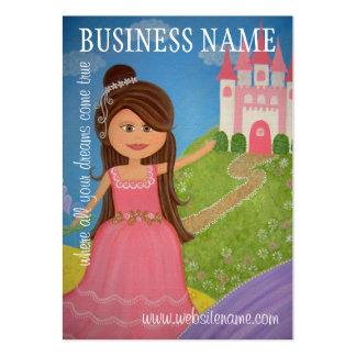 Princesa Castle - etiquetas colgantes y tarjetas d Tarjetas De Visita Grandes