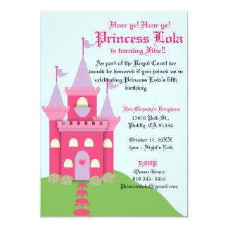 """Princesa Castle Invitation Invitación 5"""" X 7"""""""