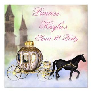 Princesa Castle Royal Carriage princesa dulce 16 Invitaciones Personales