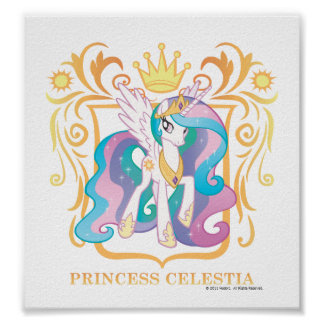 Princesa Celestia con la corona Poster