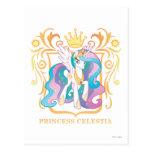 Princesa Celestia con la corona Tarjetas Postales