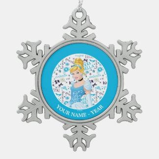 Princesa Cenicienta Adorno De Peltre En Forma De Copo De Nieve