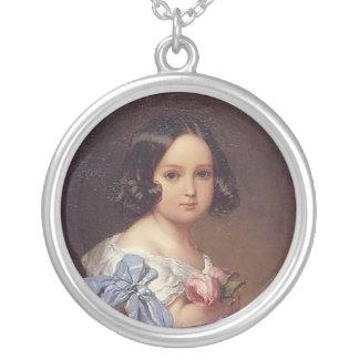 Princesa Charlotte de Bélgica Colgante Redondo