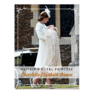 Princesa Charlotte Elizabeth Diana - bautizo Tarjeta Postal