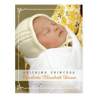 Princesa Charlotte Elizabeth Diana - Guillermo Tarjeta Postal