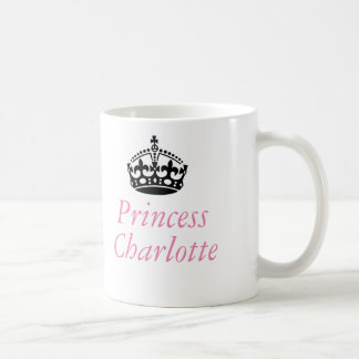 Princesa Charlotte y corona británica Taza