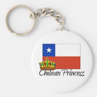 Princesa chilena llavero redondo tipo pin