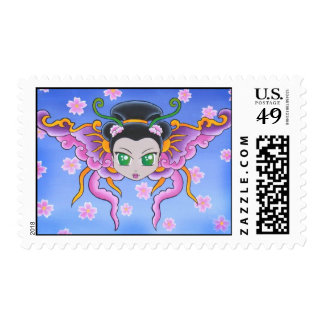 Princesa china Butterfly Stamp Sellos Postales