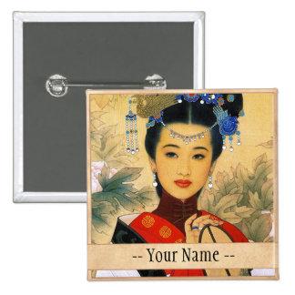 Princesa china hermosa joven clásica Guo Jin Pins