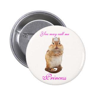Princesa Chipmunk Pins