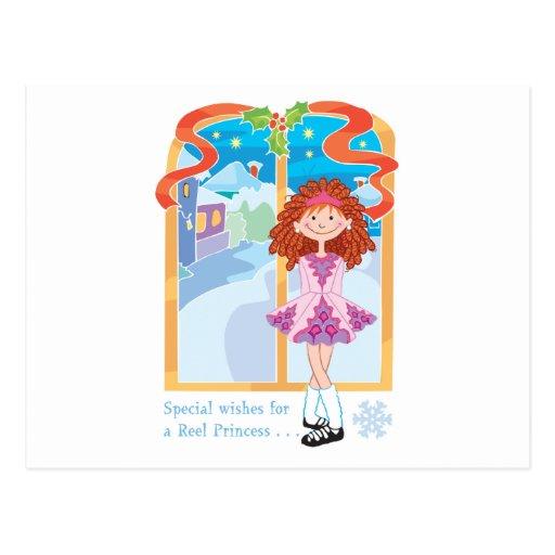 Princesa Christmas del Redhead del carrete Postales