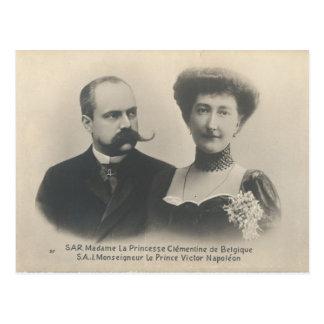 Princesa Clementine y príncipe Victor Napoleon Tarjeta Postal