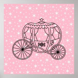 Princesa Coach Design en negro y rosa Impresiones