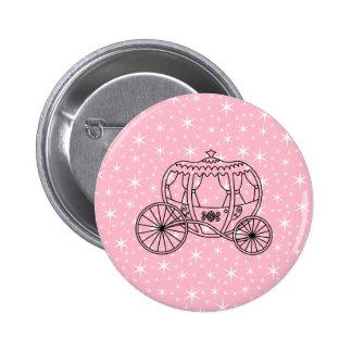 Princesa Coach Design en negro y rosa Pins