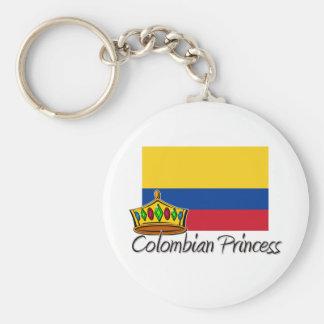 Princesa colombiana llavero redondo tipo pin