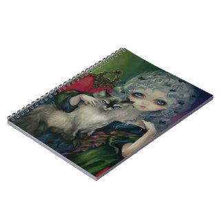 Princesa con el cuaderno de un gato de Ragdoll