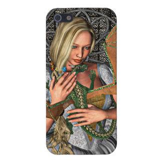 Princesa con el dragón iPhone 5 carcasas