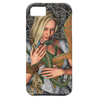 Princesa con el dragón iPhone 5 fundas