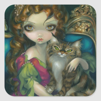 """""""Princesa con el pegatina de Maine de un gato de C"""