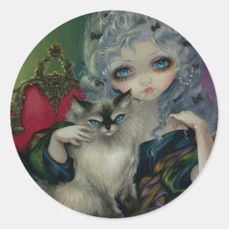 Princesa con el pegatina de un gato de Ragdoll
