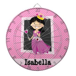 Princesa con el vestido púrpura; Rayas rosadas y